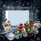 Christmas greeting card with frame Stock Photography