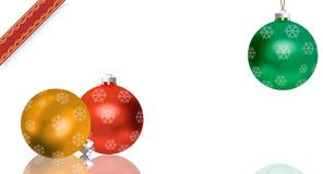 Christmas Greeting Card (free Space For Your Text) Royalty Free Stock Image