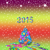 Christmas greeting card 2015 Stock Images