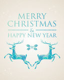 Christmas greeting card geometric deer Stock Photo