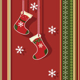 Christmas greeting card with gift boxes Stock Photos