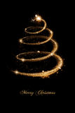 Christmas Greeting Card in Gold and black Stock Images