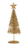 Christmas greeting card with gold metal firtree Stock Photo
