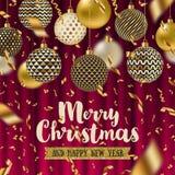 Christmas greeting illustration Royalty Free Stock Photo