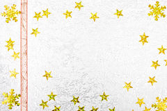 Christmas greeting card with golden stars Stock Photography