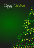 Christmas greeting card in green. 2d design of Christmas greeting card in green Royalty Free Stock Photography
