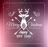 Christmas Greeting Card for happy Holiday flyers Royalty Free Stock Photo