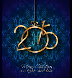 2015 Christmas Greeting Card for happy Holiday Stock Photo