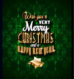2015 Christmas Greeting Card for happy Holidays and new year flyers. Stock Images