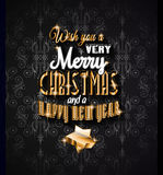 2015 Christmas Greeting Card for happy Holidays and new year flyers. Royalty Free Stock Images