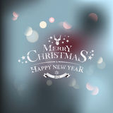 Christmas greeting card - holidays lettering. Vector Royalty Free Stock Images