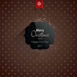 Christmas greeting card - holidays lettering Stock Photos
