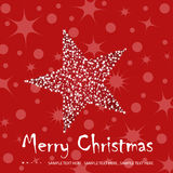 Christmas greeting card illustration stock illustration
