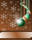 Christmas greeting card with decorations Royalty Free Stock Image