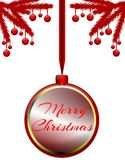 Christmas greeting card in red stock photos