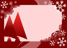 Christmas greeting card with decorations in red Stock Photo