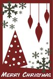 Christmas greeting card with snowflakes Royalty Free Stock Image