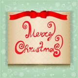 Christmas greeting card,  illustration Royalty Free Stock Photography