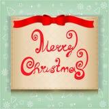 Christmas greeting card,  illustration. Christmas ribbon greeting card,  illustration Royalty Free Stock Photography
