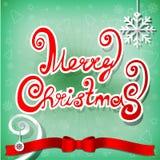 Christmas greeting card,  illustration. Christmas greeting snow card,  illustration Stock Photos