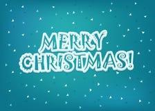 Christmas greeting card illustration Stock Photography