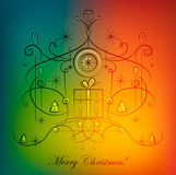 Christmas Greeting Card. Illustration for your business Royalty Free Illustration