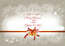Christmas Greeting Card In Vintage Style Stock Photos