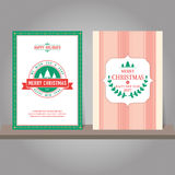 Christmas greeting card or invitation set. Vintage design. Royalty Free Stock Images