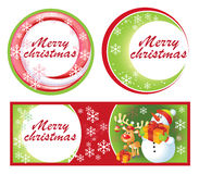 Christmas Greeting Card and labels Royalty Free Stock Images