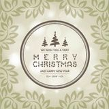 Christmas greeting card with light background christmas tree wit. H leaves.. For web design and application interface, also useful for infographics. Vector Stock Photos