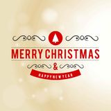 Christmas greeting card with light background red text christmas. Tree.. For web design and application interface, also useful for infographics. Vector Stock Image