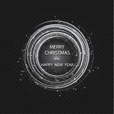 Christmas greeting card light vector background. Merry Christmas holidays wish design and vintage ornament decoration. Happy new year message. Vector Stock Images