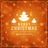 Christmas greeting card lights and snowflakes Royalty Free Stock Photography