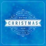 Christmas greeting card lights and snowflakes Royalty Free Stock Photos