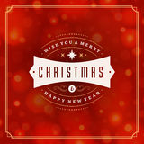 Christmas greeting card lights vector background Royalty Free Stock Photography