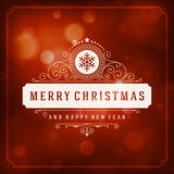 Christmas greeting card lights vector background Stock Image