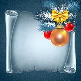 Christmas greeting card royalty free illustration