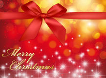 Christmas Greeting Card - Merry Christmas Stock Image
