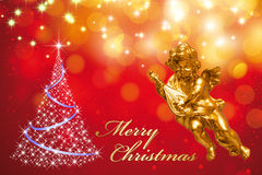 Christmas Greeting Card - Merry Christmas Royalty Free Stock Images
