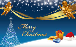 Christmas Greeting Card - Merry Christmas Royalty Free Stock Photo