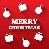 Christmas greeting card. Merry Christmas flat icon Stock Photography