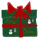 Christmas Greeting Card, Merry Christmas, gift box Royalty Free Stock Photos