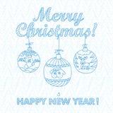 Christmas greeting card. Merry Christmas Royalty Free Stock Photo