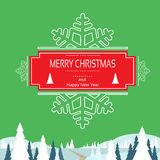Christmas greeting card with merry christmas Stock Photos