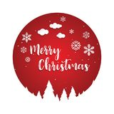 Christmas Greeting Card. Merry Christmas lettering. Vector Royalty Free Stock Photo