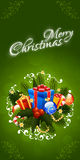 Christmas Greeting Card. Merry Christmas lettering Royalty Free Stock Photo