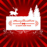 Christmas Greeting Card. Merry Christmas Lettering, Illustration Stock Photos