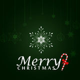 Christmas Greeting Card. Merry Christmas Lettering, Illustration Stock Photography