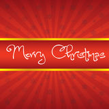 Christmas Greeting Card. Merry Christmas lettering Royalty Free Stock Images