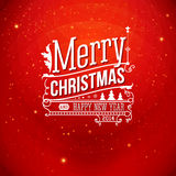 Christmas greeting card. Merry Christmas lettering Royalty Free Stock Photography
